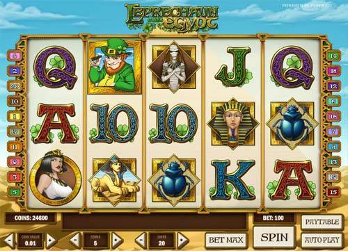 leprechaun goes egypt slot screen