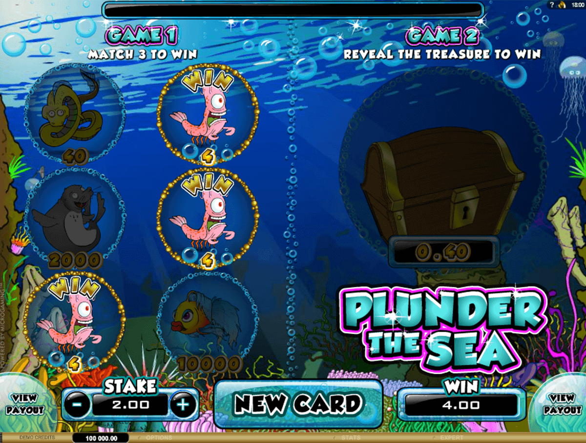 plunder the sea microgaming scratch cards